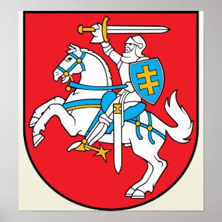Detalle del escudo de armas de Lituania Impresiones