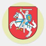 Detalle del escudo de armas de Lituania Etiquetas Redondas