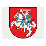 Detalle del escudo de armas de Lituania Tarjeta Postal