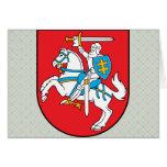 Detalle del escudo de armas de Lituania Tarjeton