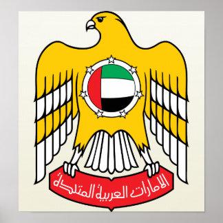 Detalle del escudo de armas de los Uae Posters