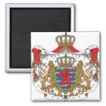 Detalle del escudo de armas de Luxemburgo Imán
