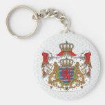 Detalle del escudo de armas de Luxemburgo Llaveros Personalizados
