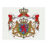 Detalle del escudo de armas de Luxemburgo Postal
