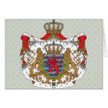 Detalle del escudo de armas de Luxemburgo Tarjeta