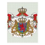 Detalle del escudo de armas de Luxemburgo Tarjeta Postal
