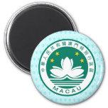 Detalle del escudo de armas de Macao Imán Para Frigorífico