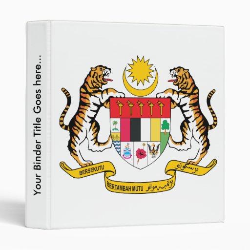 Detalle del escudo de armas de Malasia