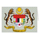 Detalle del escudo de armas de Malasia Felicitacion