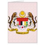 Detalle del escudo de armas de Malasia Tarjetas