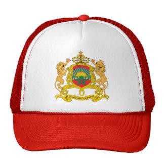 Detalle del escudo de armas de Marruecos Gorro