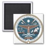 Detalle del escudo de armas de Marshall Islands Imán Cuadrado