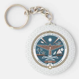 Detalle del escudo de armas de Marshall Islands Llavero Redondo Tipo Pin