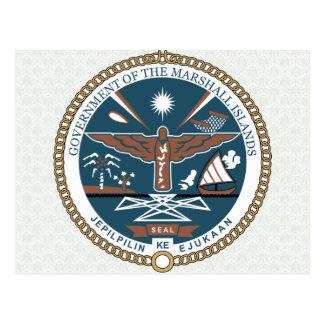 Detalle del escudo de armas de Marshall Islands Postal