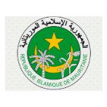 Detalle del escudo de armas de Mauritania Tarjeta Postal