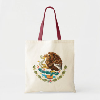 Detalle del escudo de armas de México Bolsa Tela Barata