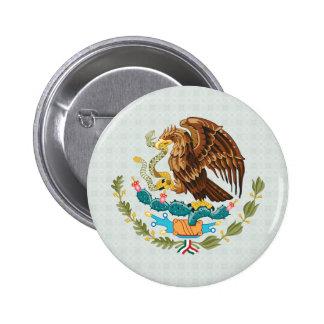 Detalle del escudo de armas de México Pins