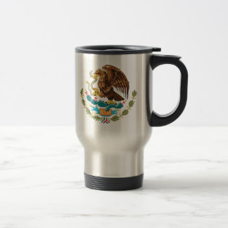 Detalle del escudo de armas de México Taza De Viaje
