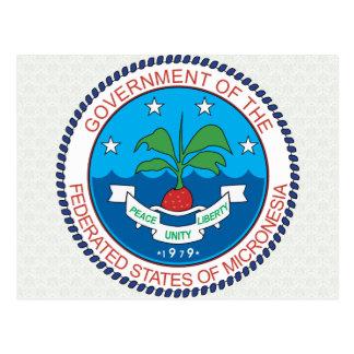 Detalle del escudo de armas de Micronesia Postal
