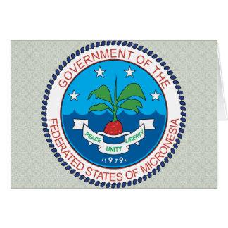 Detalle del escudo de armas de Micronesia Tarjeta De Felicitación