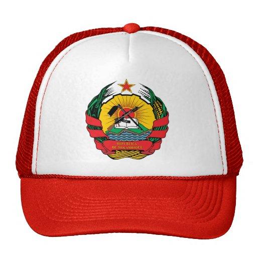 Detalle del escudo de armas de Mozambique Gorro De Camionero