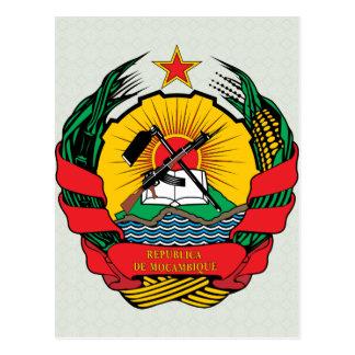 Detalle del escudo de armas de Mozambique Postal