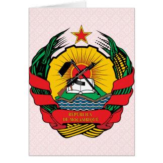 Detalle del escudo de armas de Mozambique Tarjeton