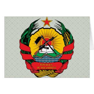 Detalle del escudo de armas de Mozambique Tarjeta De Felicitación