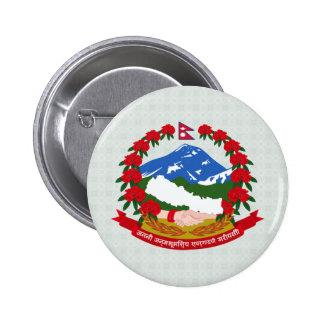 Detalle del escudo de armas de Nepal Pins