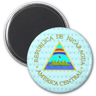 Detalle del escudo de armas de Nicaragua Imán Redondo 5 Cm