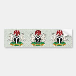 Detalle del escudo de armas de Nigeria Etiqueta De Parachoque
