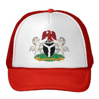 Detalle del escudo de armas de Nigeria Gorro