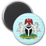 Detalle del escudo de armas de Nigeria Imanes Para Frigoríficos