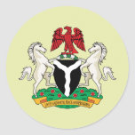 Detalle del escudo de armas de Nigeria Pegatina Redonda