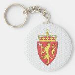 Detalle del escudo de armas de Noruega Llavero