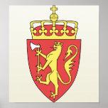 Detalle del escudo de armas de Noruega Poster