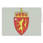 Detalle del escudo de armas de Noruega Felicitacion