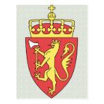 Detalle del escudo de armas de Noruega Tarjetas Postales