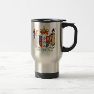 Detalle del escudo de armas de Nueva Zelanda Tazas De Café