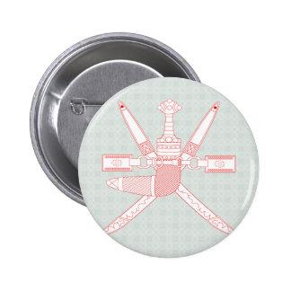 Detalle del escudo de armas de Omán Pins