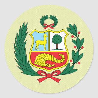 Detalle del escudo de armas de Perú Pegatina Redonda