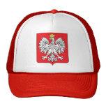 Detalle del escudo de armas de Polonia Gorras De Camionero