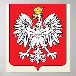 Detalle del escudo de armas de Polonia Poster