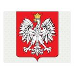Detalle del escudo de armas de Polonia Postales