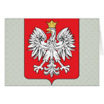 Detalle del escudo de armas de Polonia Tarjeta