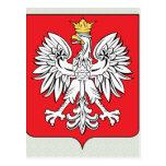Detalle del escudo de armas de Polonia Tarjetas Postales