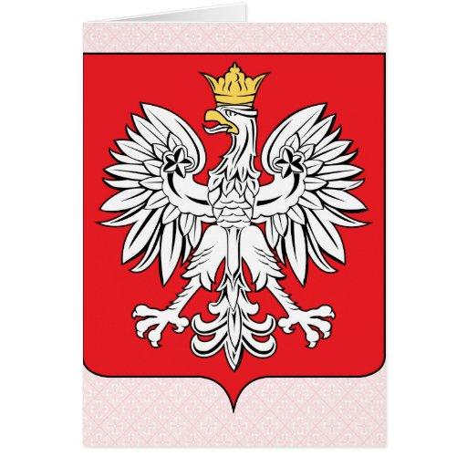 Detalle del escudo de armas de Polonia Tarjetas