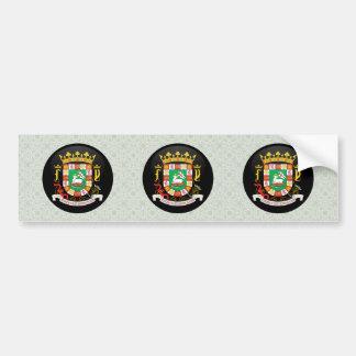 Detalle del escudo de armas de Puerto Rico Pegatina Para Auto