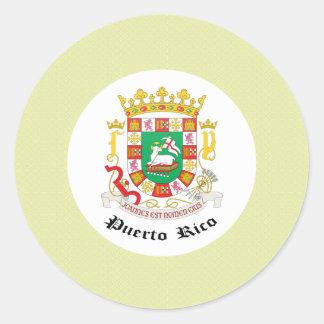 Detalle del escudo de armas de Puerto Rico Pegatina Redonda