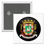 Detalle del escudo de armas de Puerto Rico Pins